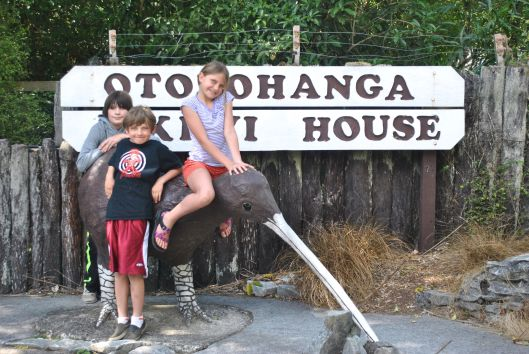 Outside the Otorohaunga Kiwi House