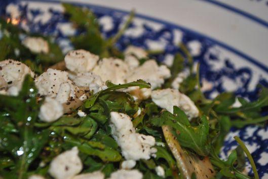 arugula salad with cucumber and feta