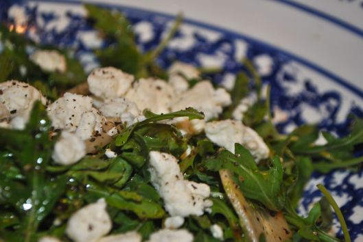 arugula salad with cucumber and feta