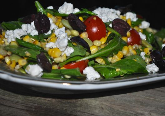 grilled corn and lima bean salad