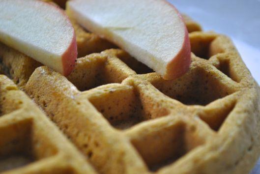 pumpkin apple waffles