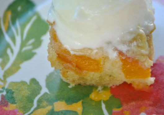 sweet peach olive oil cake