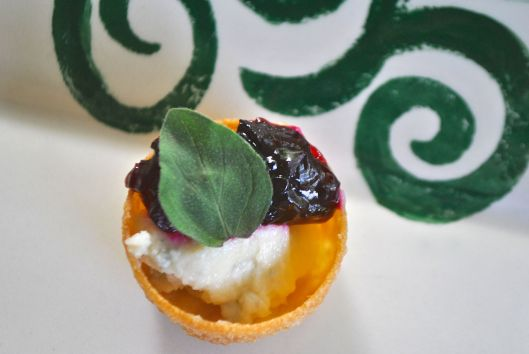 blue cheese and beetroot tarts