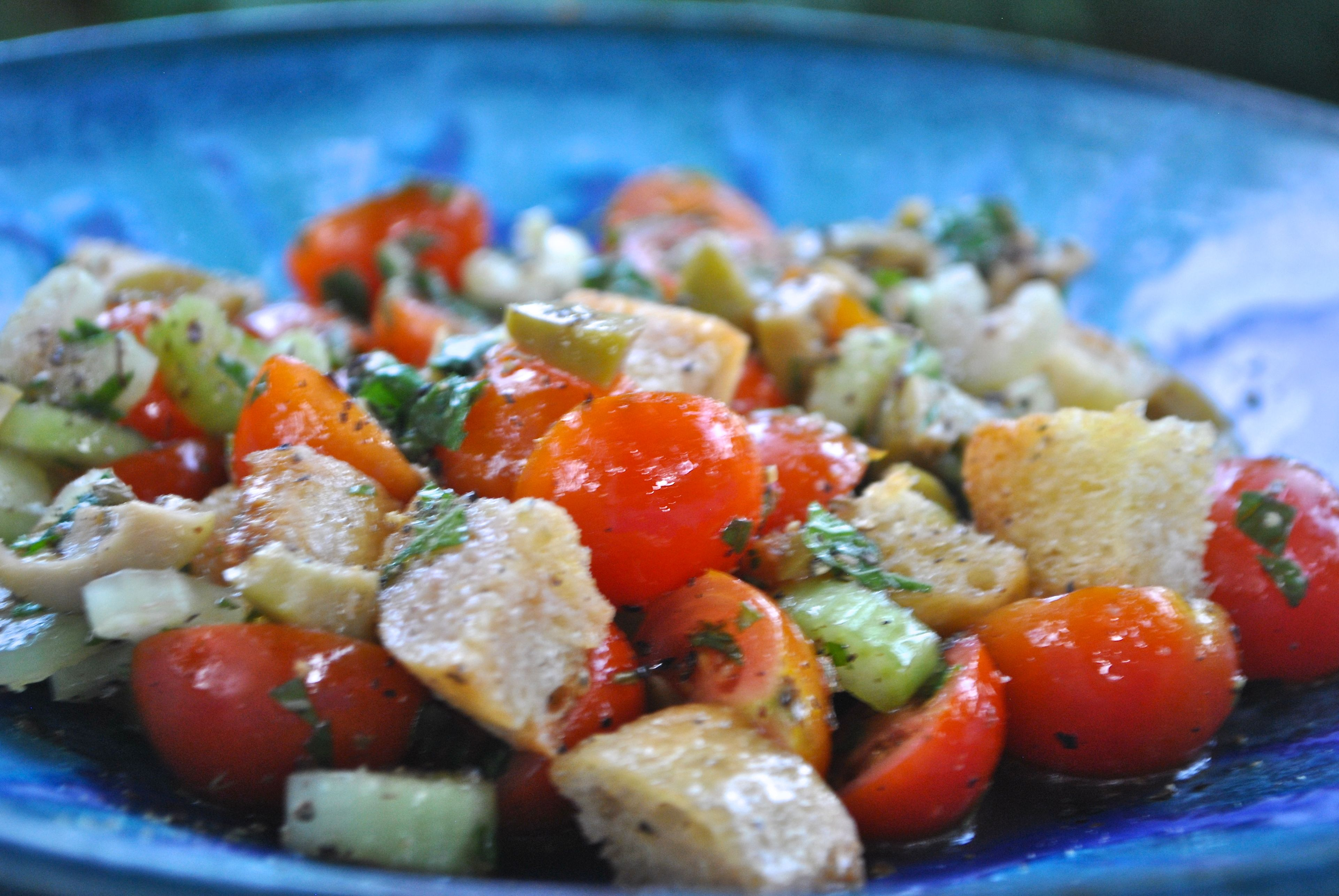 BREAD SALAD WITH TOMATOES AND OLIVES - FAYETTEVILLE ...