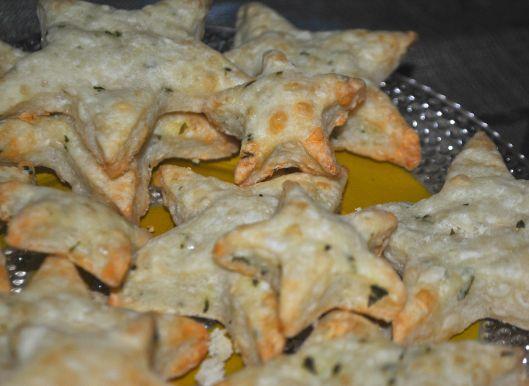 cheddar parmesan basil stars