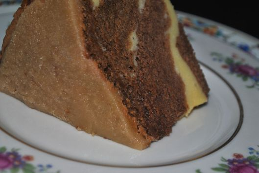 chocolate pound cake with cream cheese filling