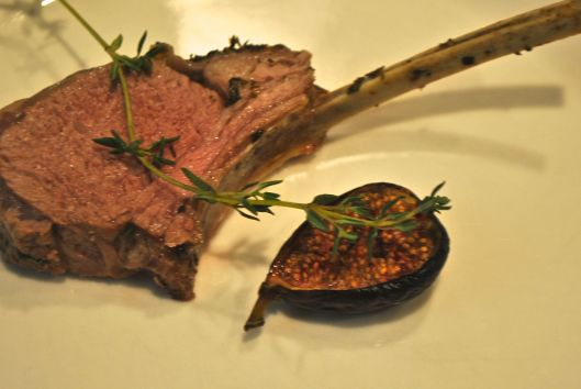 lamb chops with roasted figs