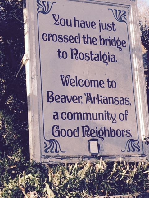 The Welcome Sign across the bridge.
