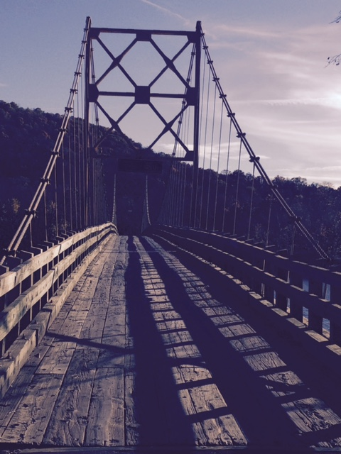 The last swinging bridge in Arkansas still open to traffic!