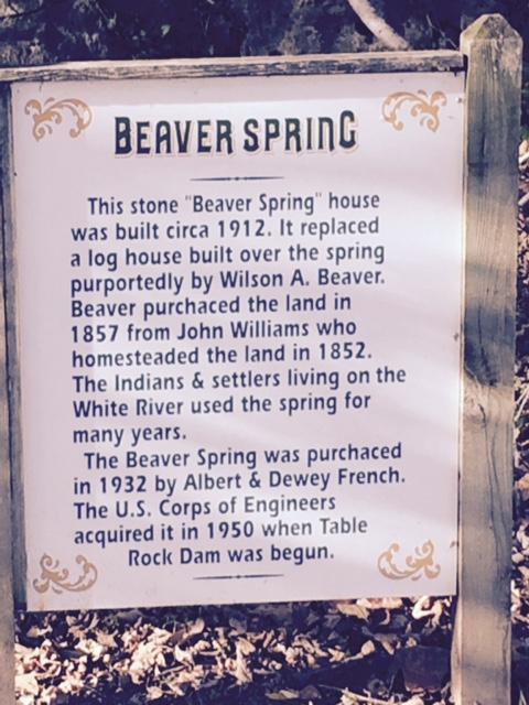 Beaver Spring sign