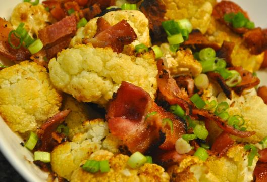 cauliflower with bacon