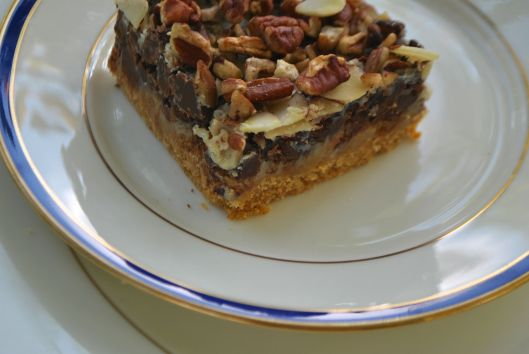 nutty cookie bars