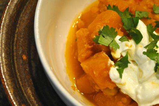 pumpkin red lentil stew