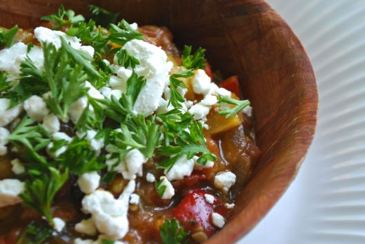 ratatouille with goat cheese