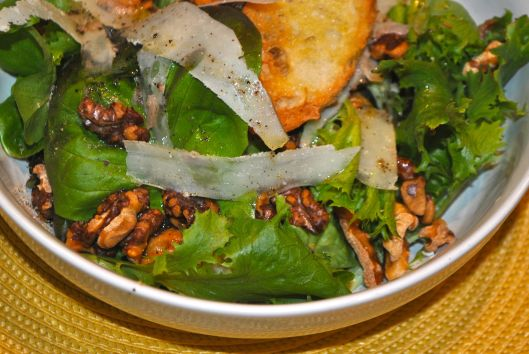 greens with anchovy dressing