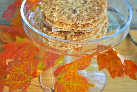 honey hazelnut crisps