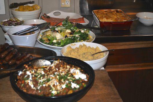 dinner at warren and debras