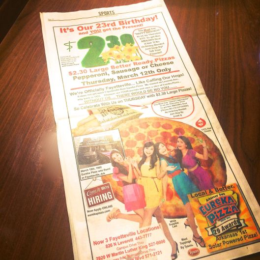 eureka pizza 23 birthday