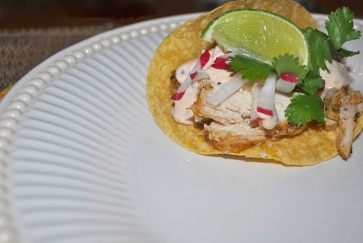 grilled chicken tacos with chipotle sauce
