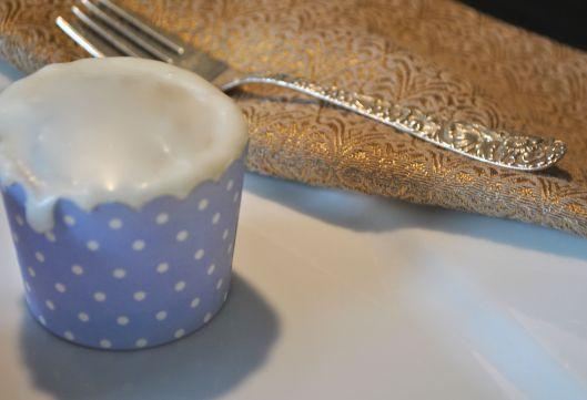 one blueberry buttermilk cupcake