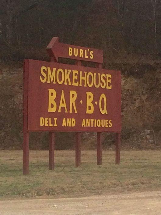 burls country smokehouse sign