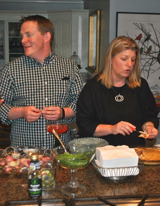Guests enjoying Quick Pickled Vegetables