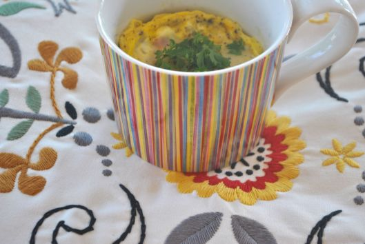 egg bake in a mug