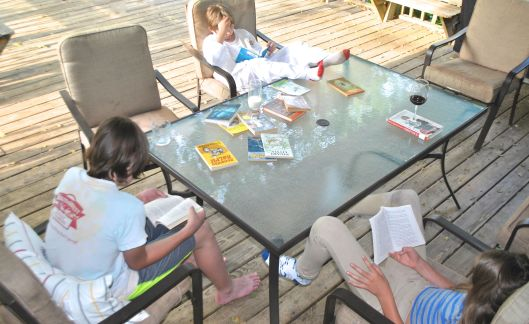 reading on the deck