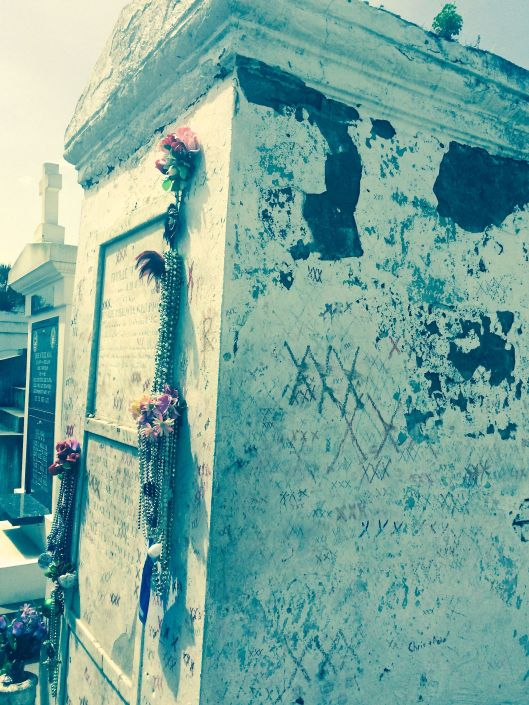 The tomb of Marie Laveau, the legendary voodoo queen