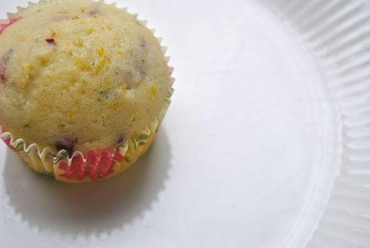 cherry rosemary muffins