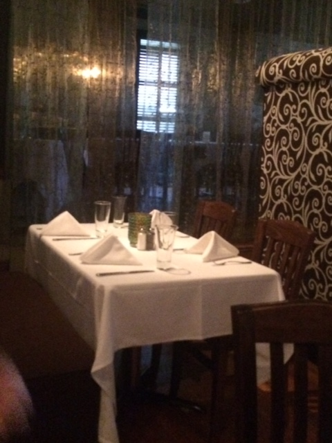A dining area at Le Stick