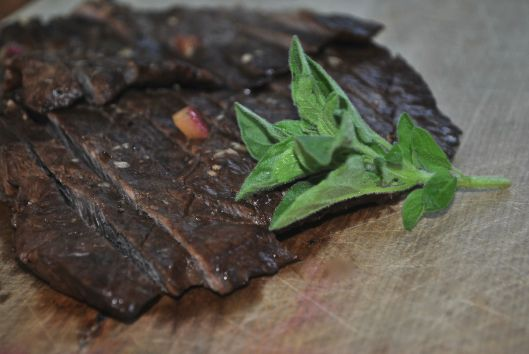 marinated flat iron steak