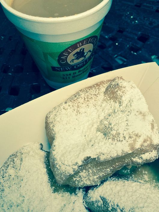 Cafe au Lait and Beignets at Cafe Beignet