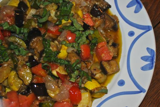 roasted ratatouille salad