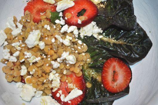 strawberry lentil salad