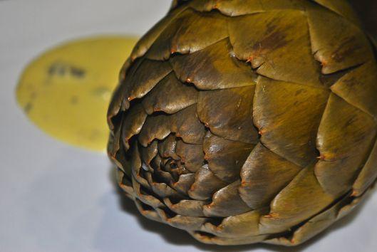 artichoke with citrus and caper aioli