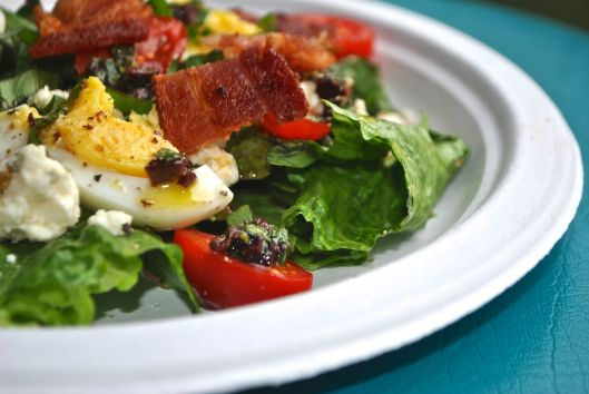 blt salad with olive vinaigrette