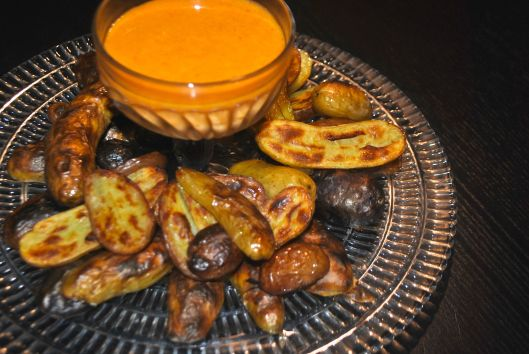 fingerling potatoes with smoky aioli