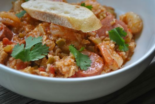 hearty shrimp jambalaya