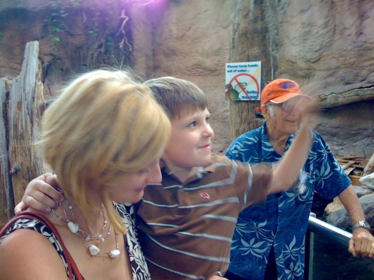 mum Joe and Bob at New Orleans aquariaum