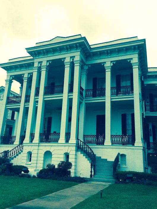this side of Nottoway Plantation looks towards the Mississippi River