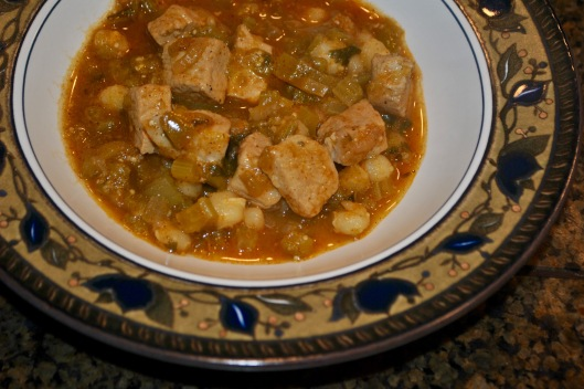 green chile pork posole