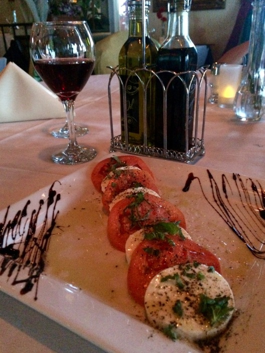 caprese salad at Via Roma