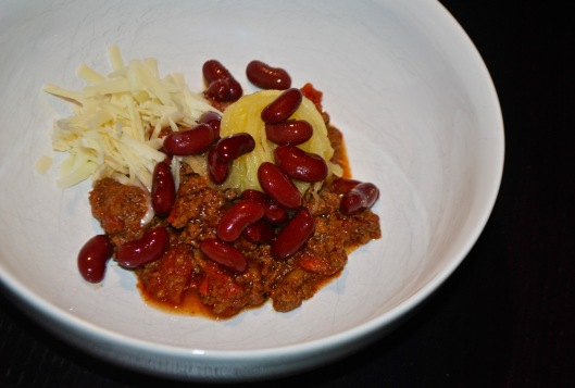 chili with spaghetti squash