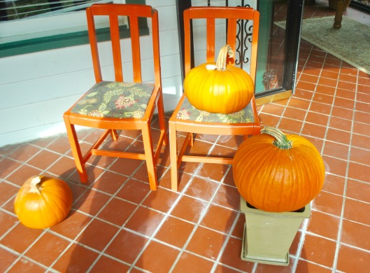 pumpkins on the front porch