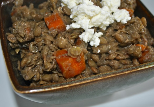 lentil soup with whipped feta