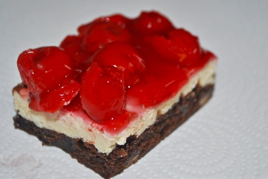 truffle cherry brownie
