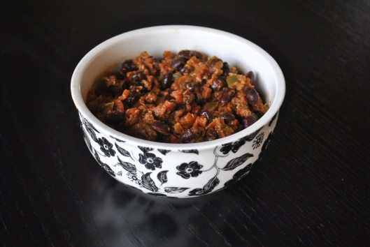 black bean tomato chili