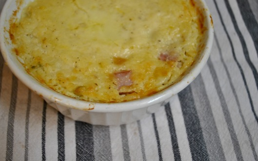 ham and cheese grits casserole