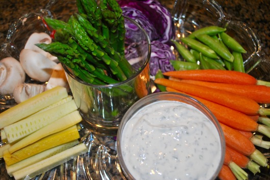 buttermilk herb dip with crudites